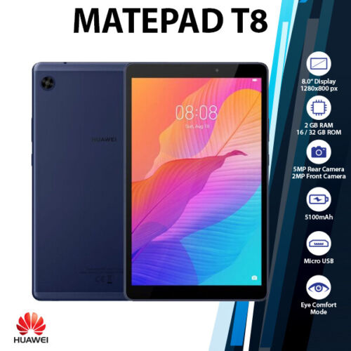 """(WiFi+LTE)Huawei MatePad T8 8"""" Blue 2GB+32GB Octa Core 5100mAh Android PC Tablet"""
