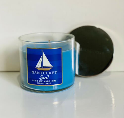 NEW! BATH & BODY WORKS 3-WICK SCENTED CANDLE - NANTUCKET SAIL - SALE