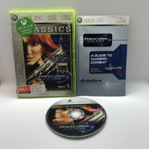 Perfect Dark Zero Xbox 360 Complete With Manual Pal Game Free Postage Xbox One