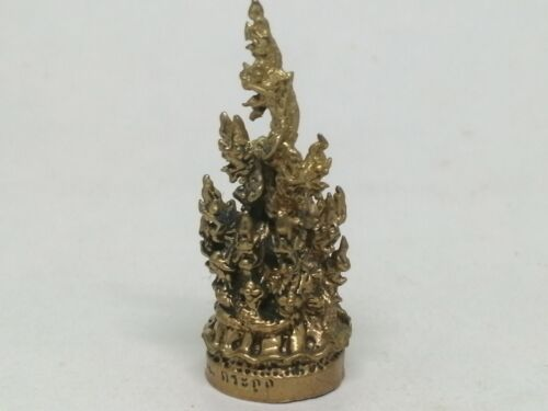 15​ CLANS OF​ NAGA​ MINI​ STATUE​ HOLY​ SACRED​ WEALTH​ LUCK​ THAI​ LAO AMULET
