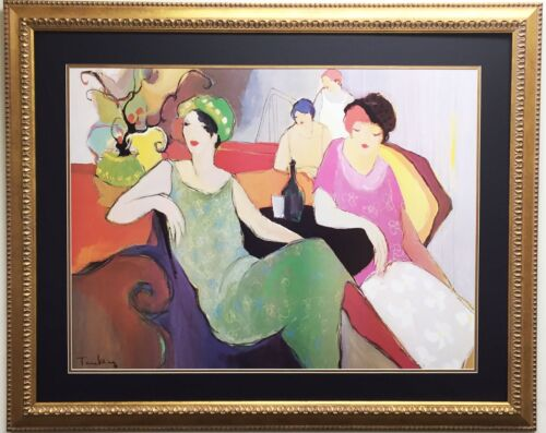 """ITZCHAK TARKAY """"In The Lounge"""" - Offset LITHOGRAPH Custom FRAMED - OUT OF PRINT"""