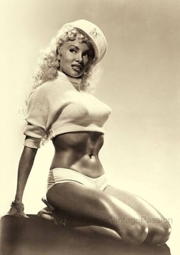 """1950's LILY Christine Burlesque Stripper Knock-out Body 4""""x6"""" Reprint Photo BU2"""