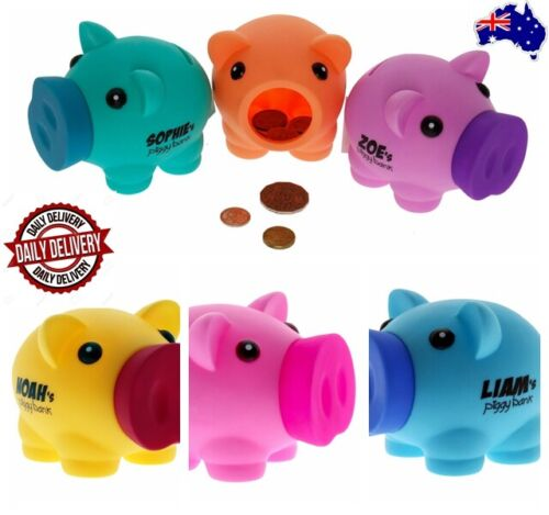 Personalised Piggy Banks TOY Gift - Boy /Girls Name and Blank to write any name