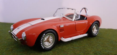 SHELBY  COBRA 427 S/C cabriolet rouge bandes blanches 1/18 KYOSHO 7006RW voiture