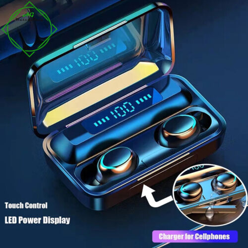 Wireless Bluetooth 5.0 Headphones TWS Earphones Stereo Earbuds Iphone Samsung  <br/> 8D STEREO QUALITY, BUILT IN POWERBANK FOR CHARGING.