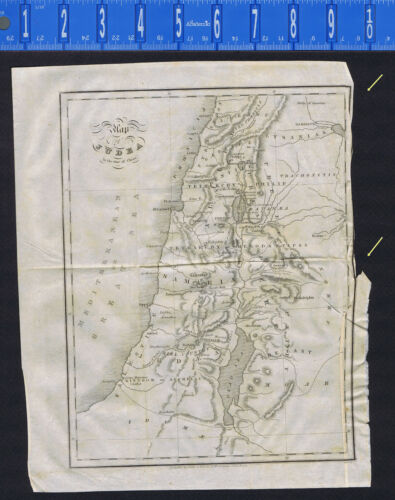 1833 Map of JUDEA in the Time of Christ