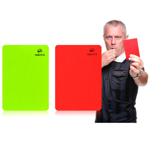 Soccer Referee Red Yellow Card Record Referee Tool With Leather Case And Penbh1