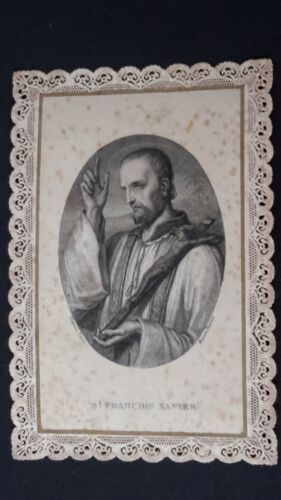 Santino merlettato, holy card, Canivet, SAN FRANCESCO SAVERIO (pos.A12.81)