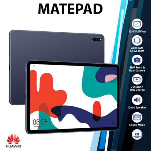 """Huawei Matepad 10.4"""" Grey 4GB+64GB Octa Core 7250mAh Android PC Tablet(WiFi+LTE)"""