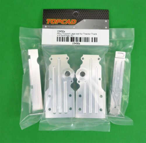 SILVER Alloy Support Legs for 1:14 RC Semi Trailer Tractor Truck suit Tamiya etc