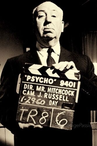 """1960 Alfred HITCHCOCK Director of PSYCHO Horror Movie 4""""x6"""" Reprint Photo AH129"""