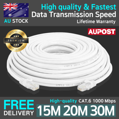 15/20/30m Internet High-quality Ethernet Network White Lan Cable CAT.6 1000Mbps