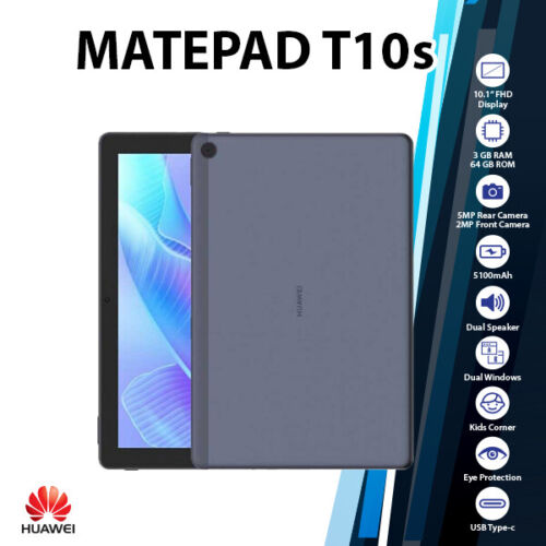 """(WiFi&New) Huawei MatePad T 10s 10.1"""" Blue 3GB+64GB Octa Core Android PC Tablet"""