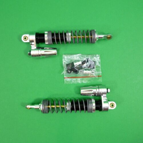 Alloy Piggyback Dampers - Shocks for Axial & other 1:10 RC rock crawlers Silver