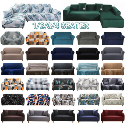 Sofa Covers 1/2/3/4 Seater High Stretch Lounge Slipcover Protector Couch Cover