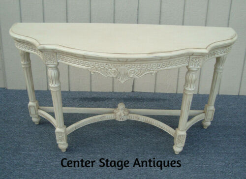 61432 Solid Wood Romantic Shabby Console Hall Table Stand