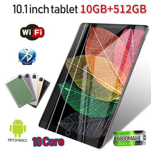 """Android 9.0 GPS 10 Core WiFi Tablet Bluetooth 10.1"""" 10+512GB HD 2560* 1600 Game"""