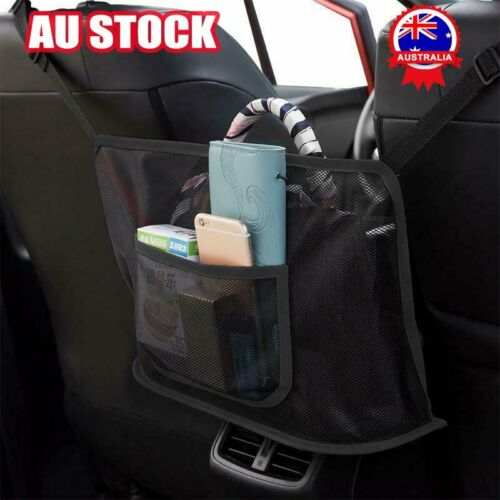 Black car net double-pocket handbag bracket storage seat side storage net AU