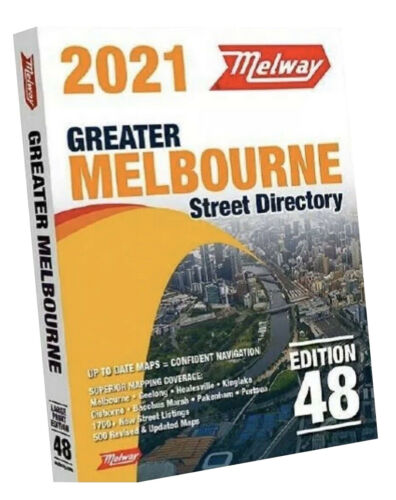 2021 Melway Melbourne Street Directory Maps Edition 48 - FREE AU postage