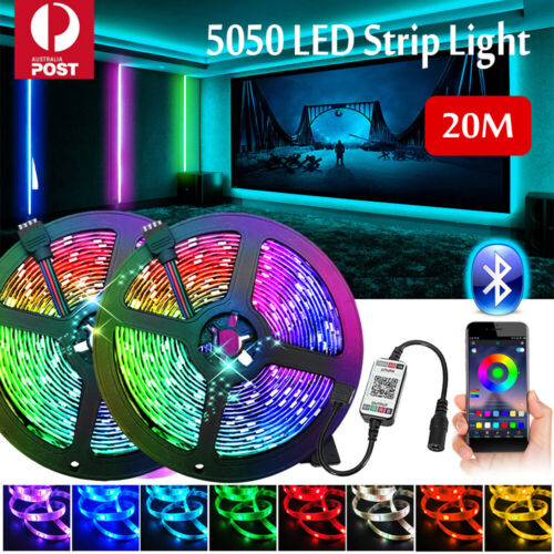 RGB LED Strip Lights IP65 Waterproof 5050 5M 10M 20M 300 LEDs 12V USB Bluetooth