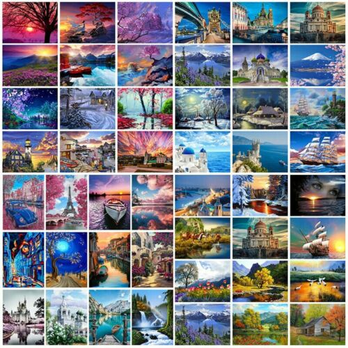 Scenery DIY Paint By Numbers Kit Digital Oil Painting Artwork Wall Home Decor IW