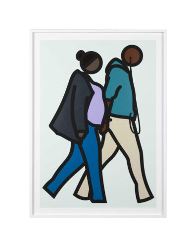 """JULIAN OPIE """"NEW YORK COUPLE 6"""" 2019   RARE SCREENPRINT & COLLAGE   OTHERS AVAIL"""