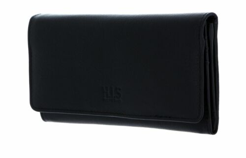 H.I.S borsa Wallet with Flap Black