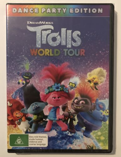 Trolls: World Tour (DVD) Dance Party Edition R4 (NEW & SEALED) 100% Genuine !