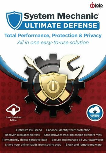 iolo System Mechanic Ultimate Defense 3 PC (1 Year) (eDelivery) GLOBAL Code