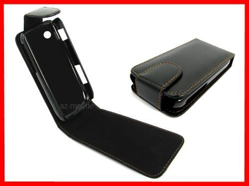 Cover A Flap Magnetic Leather Case Black For LG GD510 Pop