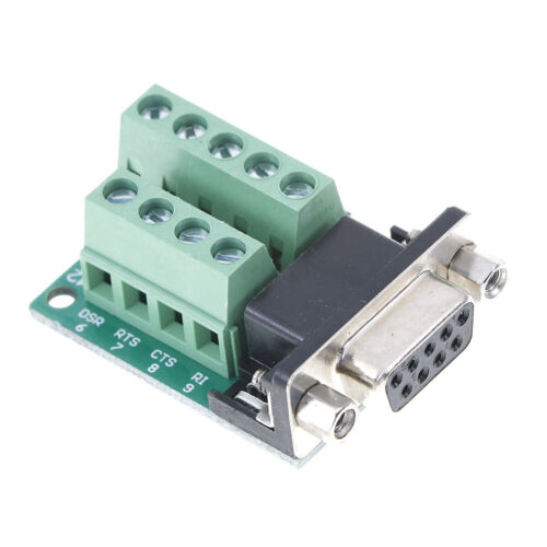 DB9 female adapter signals terminal module RS232 serial to DB9 connecY^ji