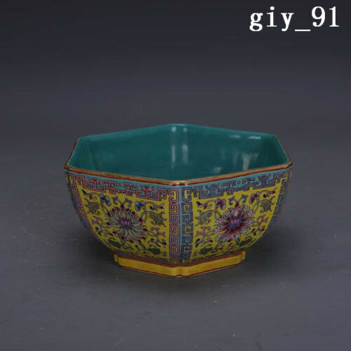 """6.4""""  ancient  China  the Qing dynasty  Pastel  Palindrome  Six square bowl"""