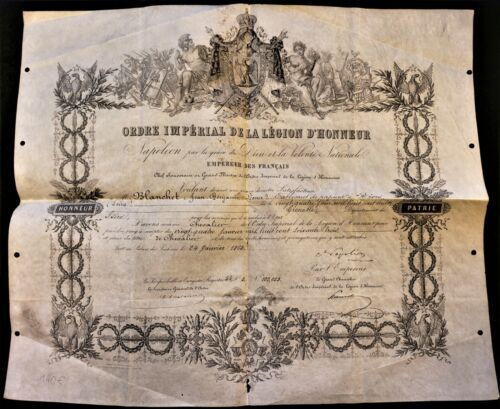 NAPOLEON III AUTOGRAPH on Order of the Legion of Honor - 1863 SECOND EMPIRE