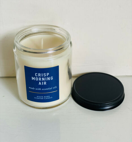 NEW! BATH & BODY WORKS SCENTED CANDLE MADE W/ ESSENTIAL OILS - CRISP MORNING AIR