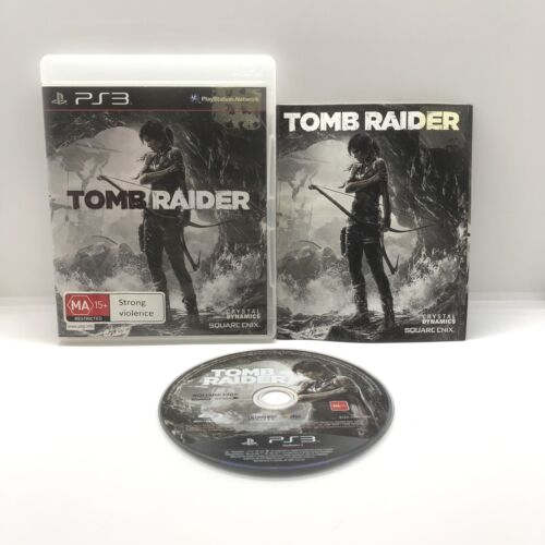 Tomb Raider Ps3 Complete With Manual Pal Game Free Postage Aus Seller EUC
