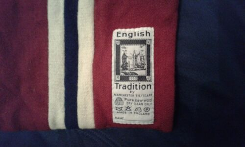 SCIARPA SCARF VINTAGE ENGLISH TRADITION BY MANCHESTER TIE SCARF PURE WOOL LANA