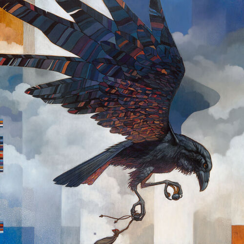 """Raven RARE Craig KOSAK """" First Land """" Limited Edition CANVAS Signed & Numbered"""