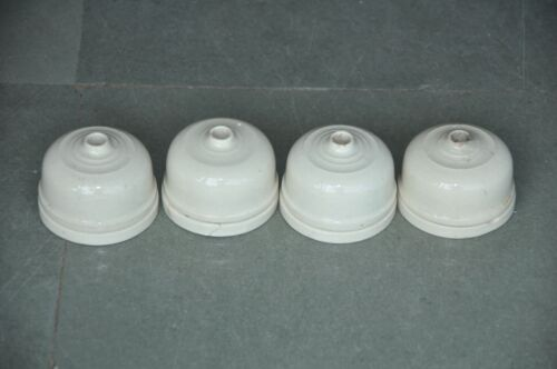 4 Pc Vintage White Ceramic Vitreous Brand Electric Switches , England