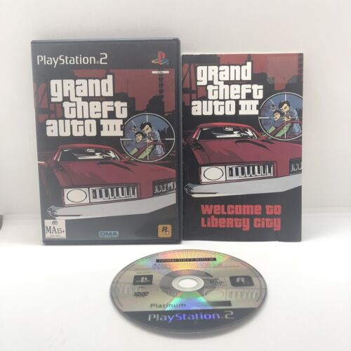 Grand Theft Auto III 3 PLAYSTATION 2 Sony PS2 Rockstar Aus Seller Free Postage