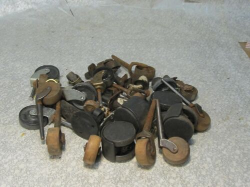 Vintage Lot of Assorted Wood Metal  Plastic Casters