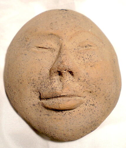 "CERAMIC TERRACOTTA MASK 5.5""h Unknown Source Poss. Tarahumara Mex.  $12s&hUS"