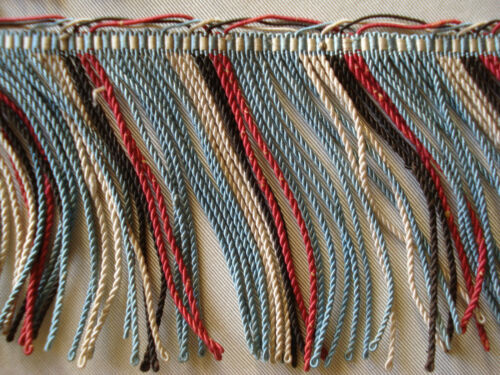 antique french passementerie twisted silk fringe