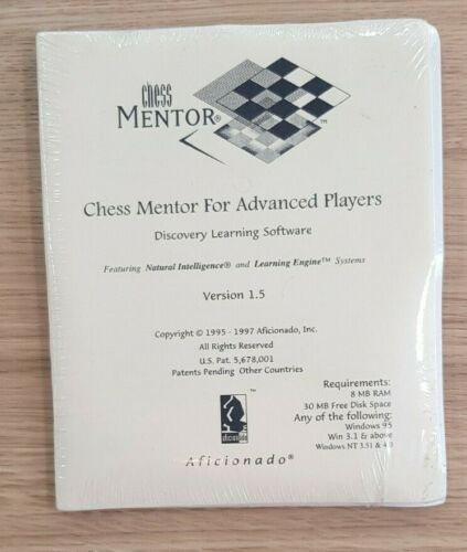 Chess Mentor For Advanced Players Version 1.5 Vintage Chess Software 1995 Sealed