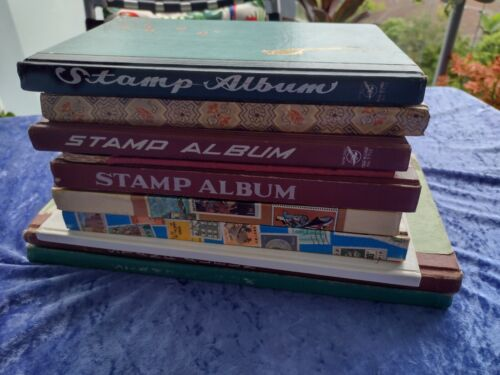 Bulk lot of x10 Stamp Albums with World Stamps and Australian