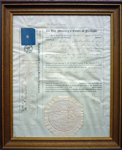 """Certificate England From 1863, Navy Hms """" Meander """" (Art.4667)"""