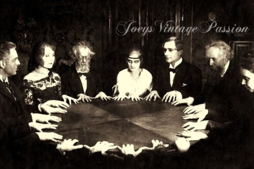 """1890's SEANCE Table Spirits Reading, Occult, Gothic 4""""x6"""" Reprint Photograph"""
