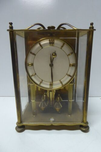 VINTAGE BRASS 400 DAY ANNIVERSARY KOMA GERMANY MANTLE CLOCK