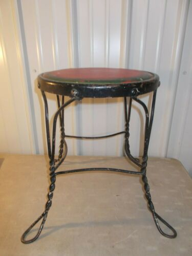 VINTAGE TWISTED METAL WIRE ICE CREAM PARLOR STOOL SODA FOUNTAIN BAR