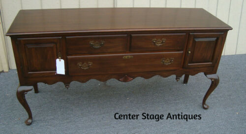 61552  ETHAN ALLEN Queen Anne Buffet Sideboard Server cabinet