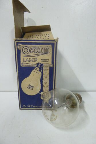 VINTAGE CONDOR GAS FILLED LIGHT BULB IN PHILIPS OSRAM BOX - COLLECTORS PIECE